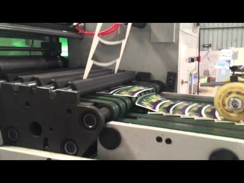 ZRY-420 Flexo Label Printing Machine With In-mold Die Cut Station And UV Dryers