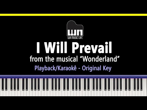 I Will Prevail (Wonderland) - Piano playback for Cover / Karaoke