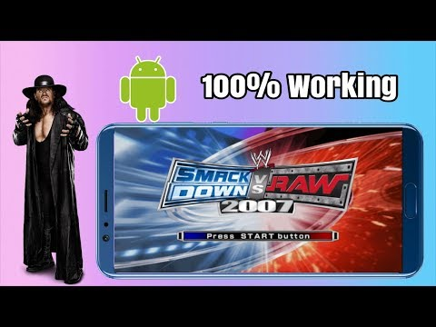 Download & Install Wwe Smackdown Vs Raw 2007 On Android For Free | Ppsspp Games