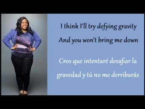 Glee: Defying Gravity Mercedes Solo  Lyrics + Español