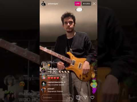 John Mayer Instagram Live (5/26/2019) Playing Guitar In His Kitchen