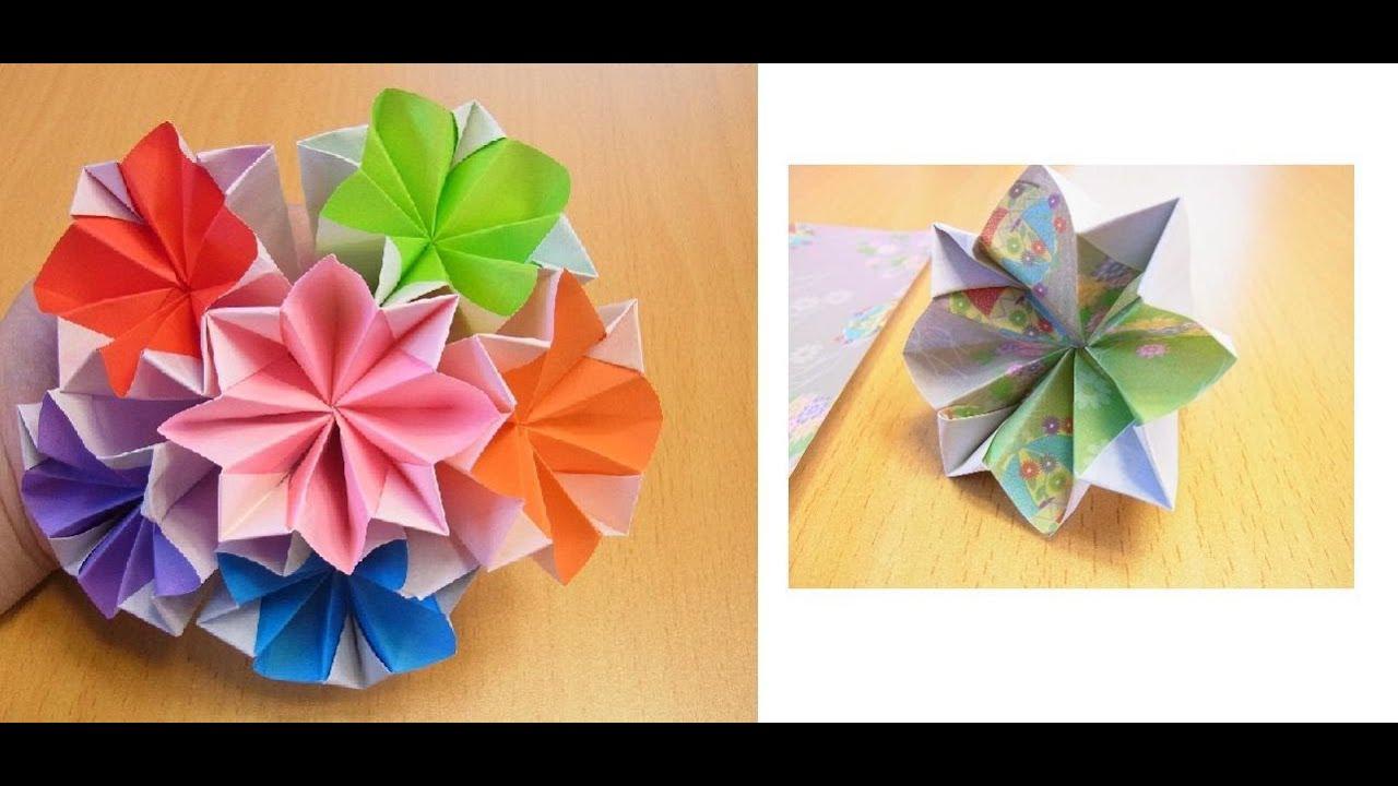 ORIGAMI】The decorative paper ball of ... : 七夕の飾り 折り紙 : 七夕