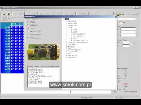 Reading HC08 by SMOK programmer