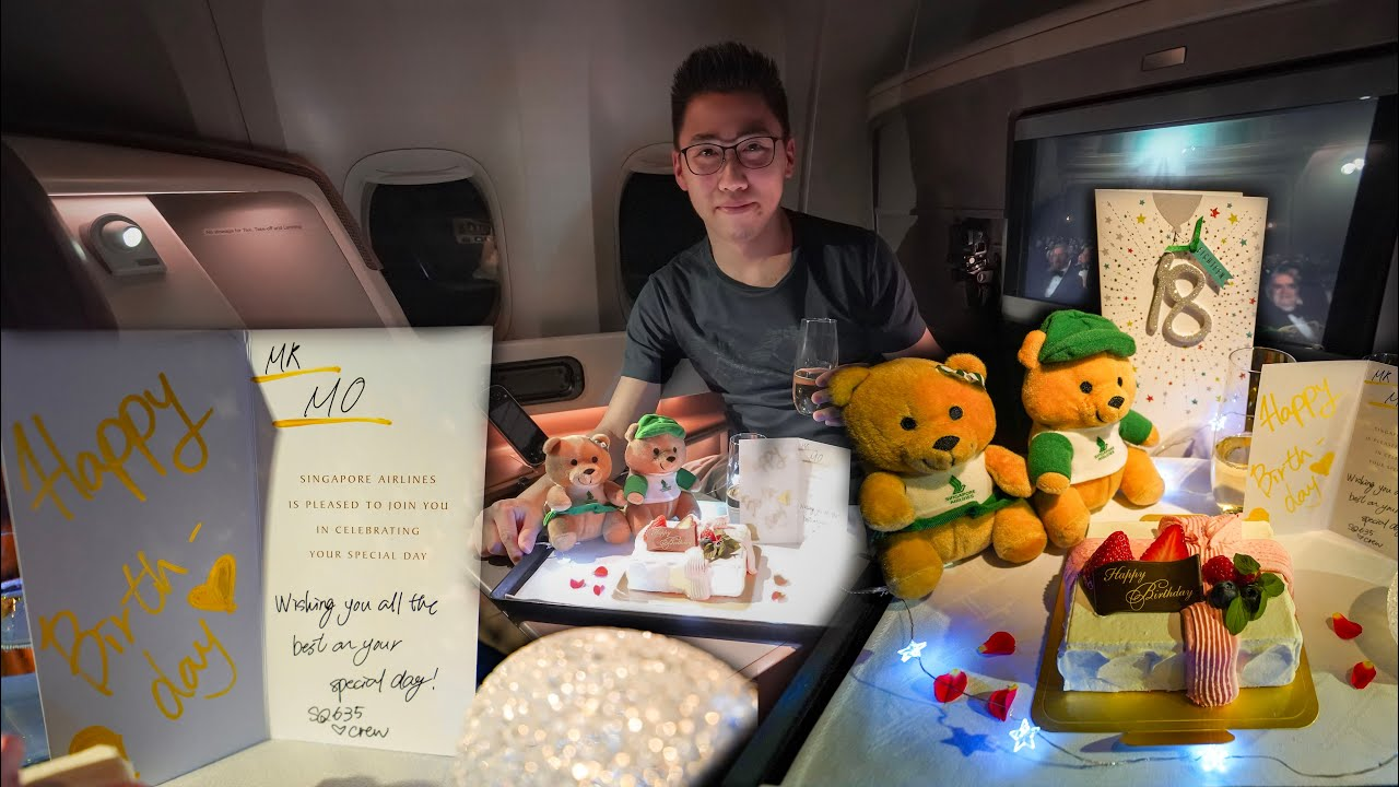 18th Birthday with Singapore Airlines 777-300ER in Business Class | Tokyo to Singapore