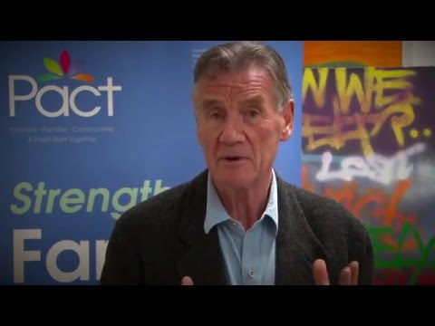 Michael Palin visits the Prison Advice and Care Trust