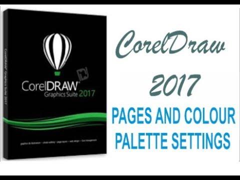 COREL DRAW 2017 PAGES AND COLOUR PALETTE SETTINGS HINDI/URDU PART 3