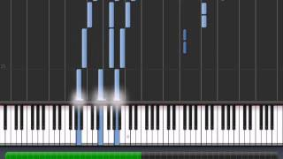 Bella's Lullaby piano (with intro) - Synthesia