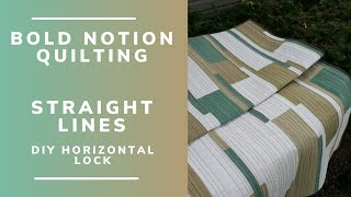 Long arm quilting straight lines without a ruler