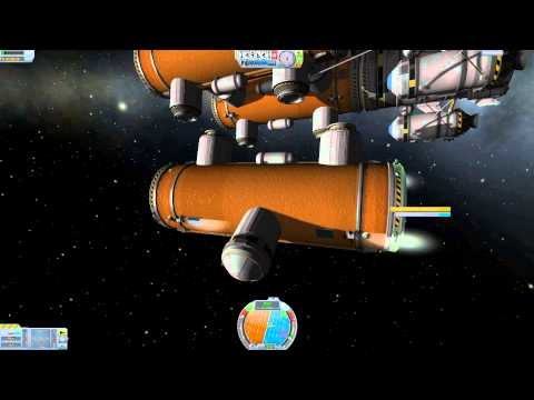 KSP building in orbit fuel station / spacecraft fuel part