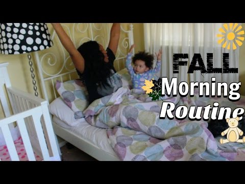 Mommy Morning Routine | Single Mom | Fall | 2016