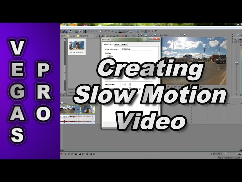 How to Slow Down High Frame Rate Video using Sony Vegas Pro
