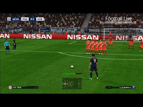 PSG vs Bayern Munich | free kick goal | UEFA Champions League 2017/2018 | PES 2017 Gameplay PC