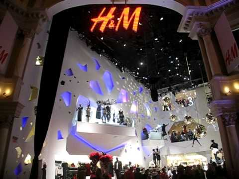 lighting installation nyc h m las vegas forum shops youtube. Black Bedroom Furniture Sets. Home Design Ideas