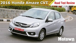 2016 honda amaze cvt   road test review   motown india