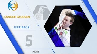 Sander SAGOSEN (NOR) - Left Back   | France 2017 All-Star Team