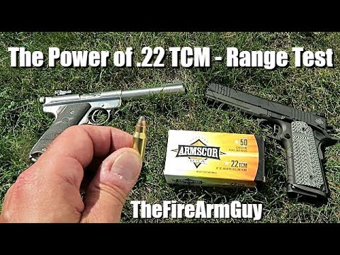 The Power of .22 TCM versus .22 Long Rifle - TheFireArmGuy