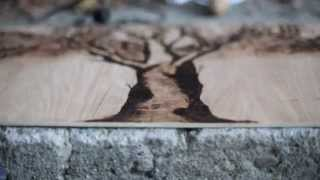 Time lapse of wood burning project!