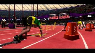 London 2012 Olympic Game - Yohan Blake Track 200m Gameplay