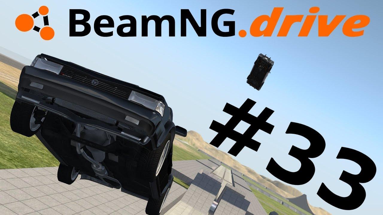 BeamNG.drive (#33) - UDERZENIA W LOCIE I MINI POŚCIG