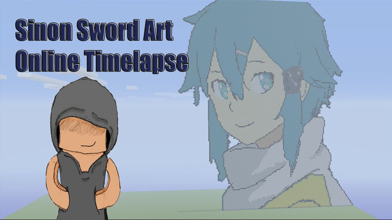 Minecraft Pixel Art Timelapse: Sinon Sword Art Online 2 - YouTube