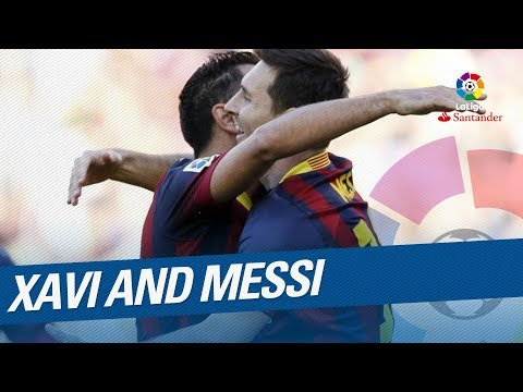 Xavi and Messi, the dream partnership