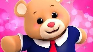 TEDDY BEAR TEDDY BEAR | NURSERY RHYMES SONGS FOR KIDS | LUKE AND LILY RHYMES