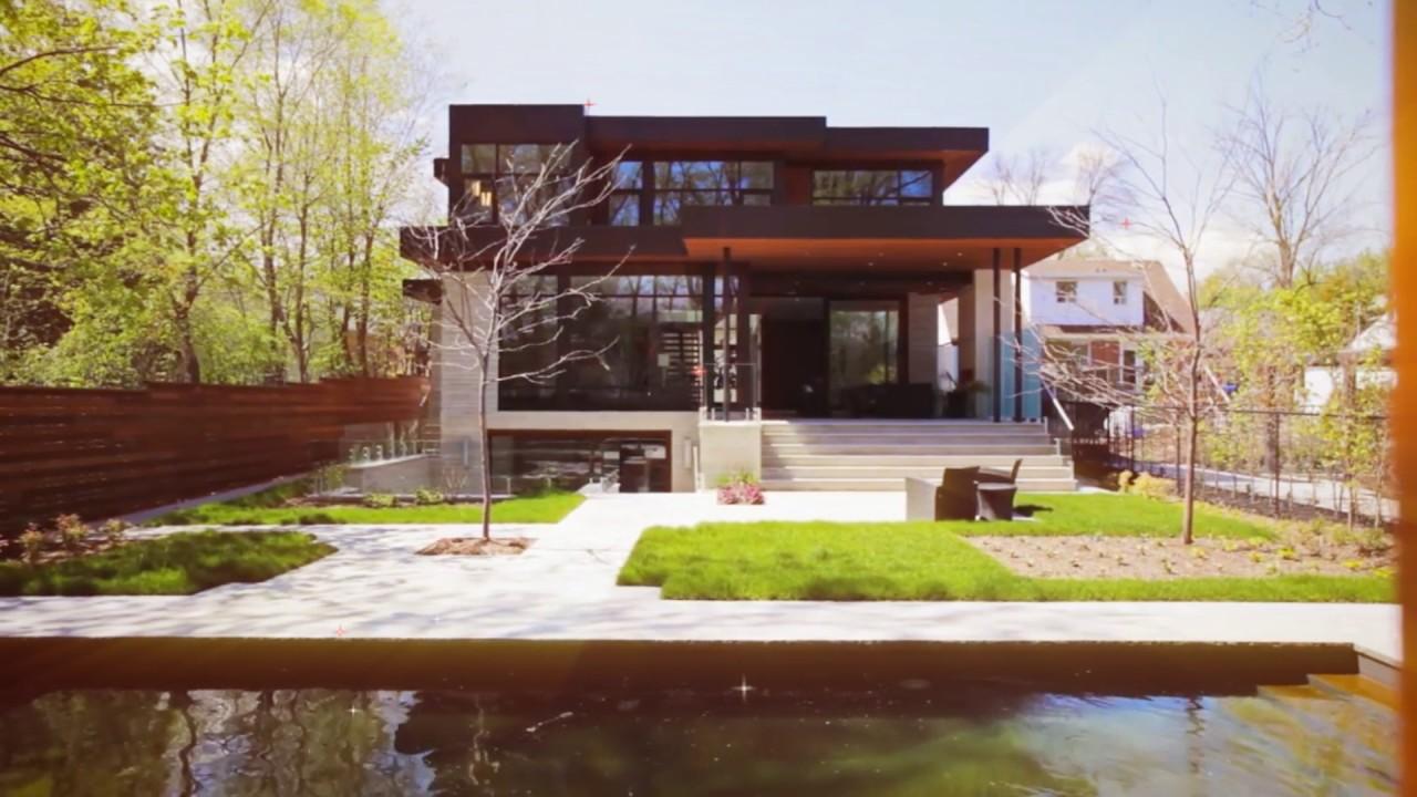 Modern house design ideas hixon street oakville ontario for Modern house plans ontario