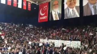 Saadet Partisi Kongresinde Kahrolsun İsrail Sesleri