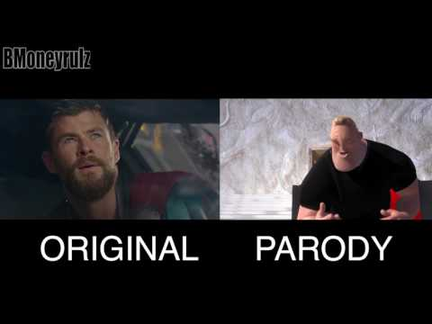 Thumbnail: Disney / Pixar's THOR: RAGNAROK Side-By-Side w/ Original Trailer