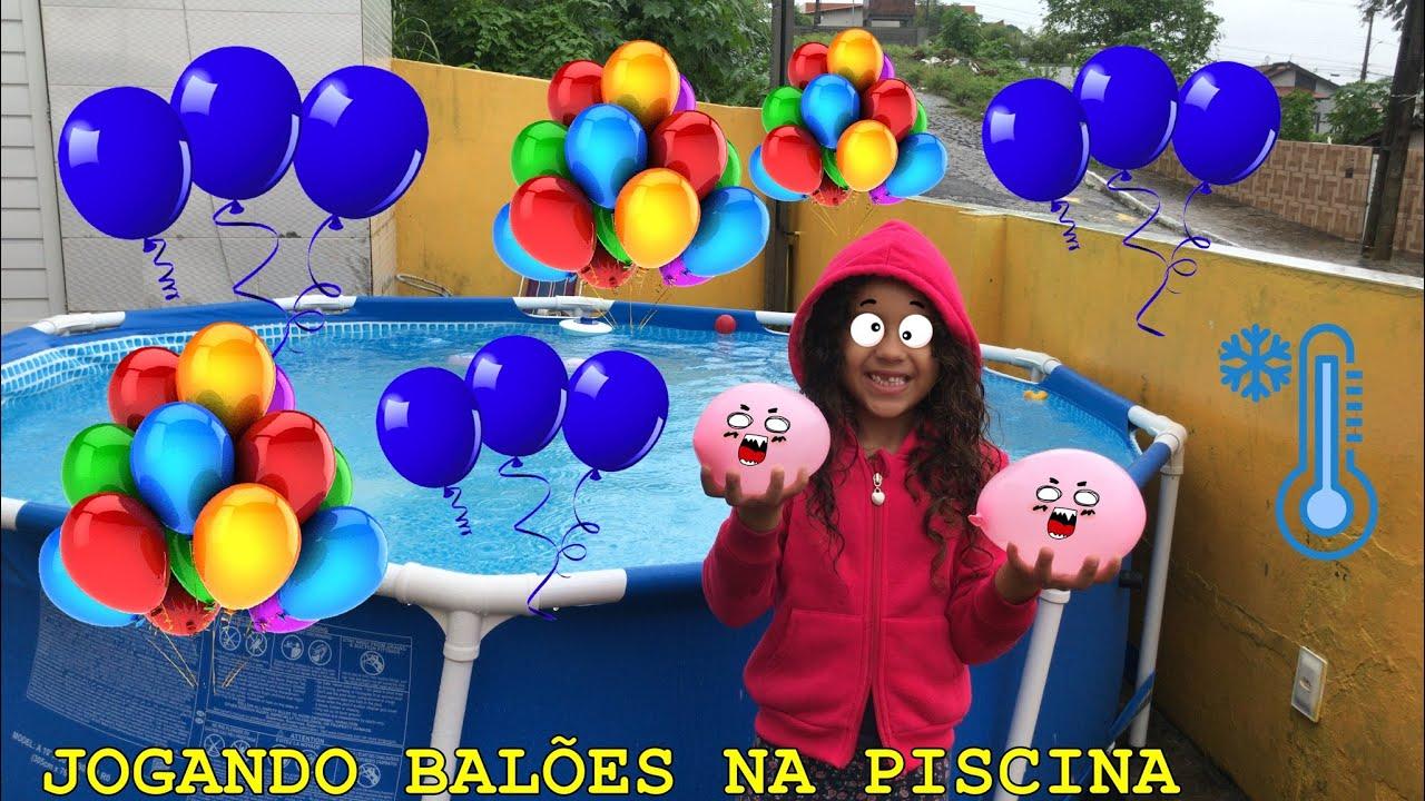 JOGANDO BALÕES NA PISCINA DE OLHOS VENDADOS