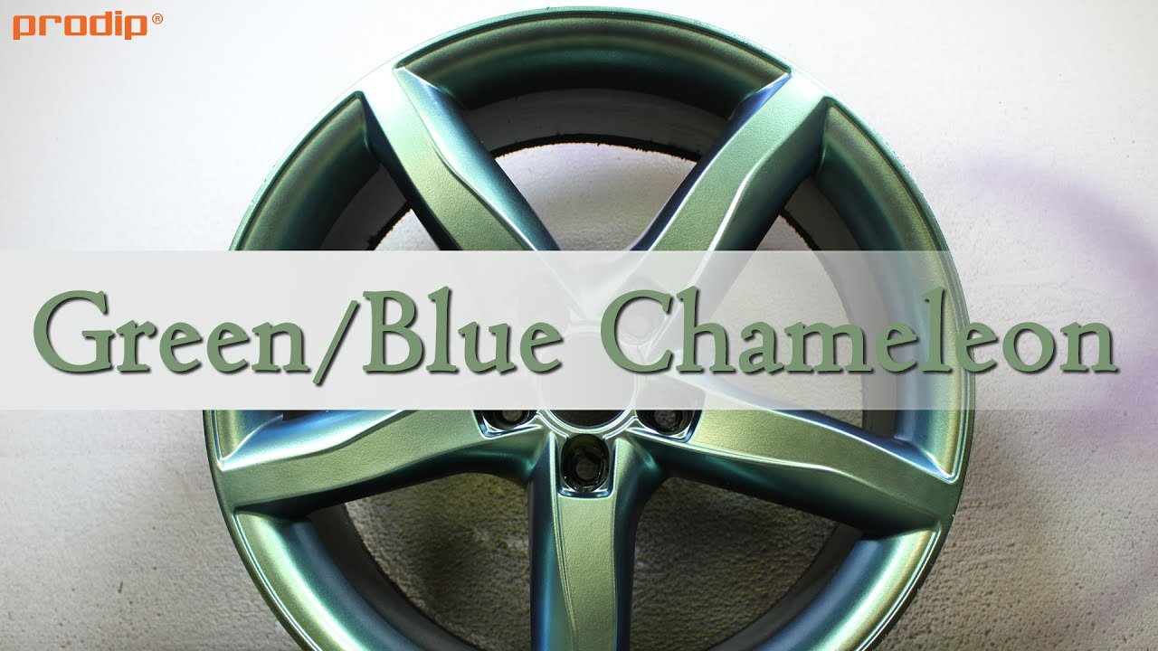 Application Of Green Blue Chameleon Plasti Dip On Wheels