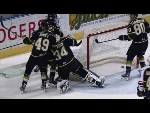 Knights' Jones ejected for vicious cross-check to the face of Attack's Gadjovich
