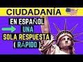 EXAMEN DE CIUDADANÍA AMERICANA EN ESPAÑOL 2020: PREGUNTAS EN ORDEN ALEATORIO - UNA SOLA RESPUESTA