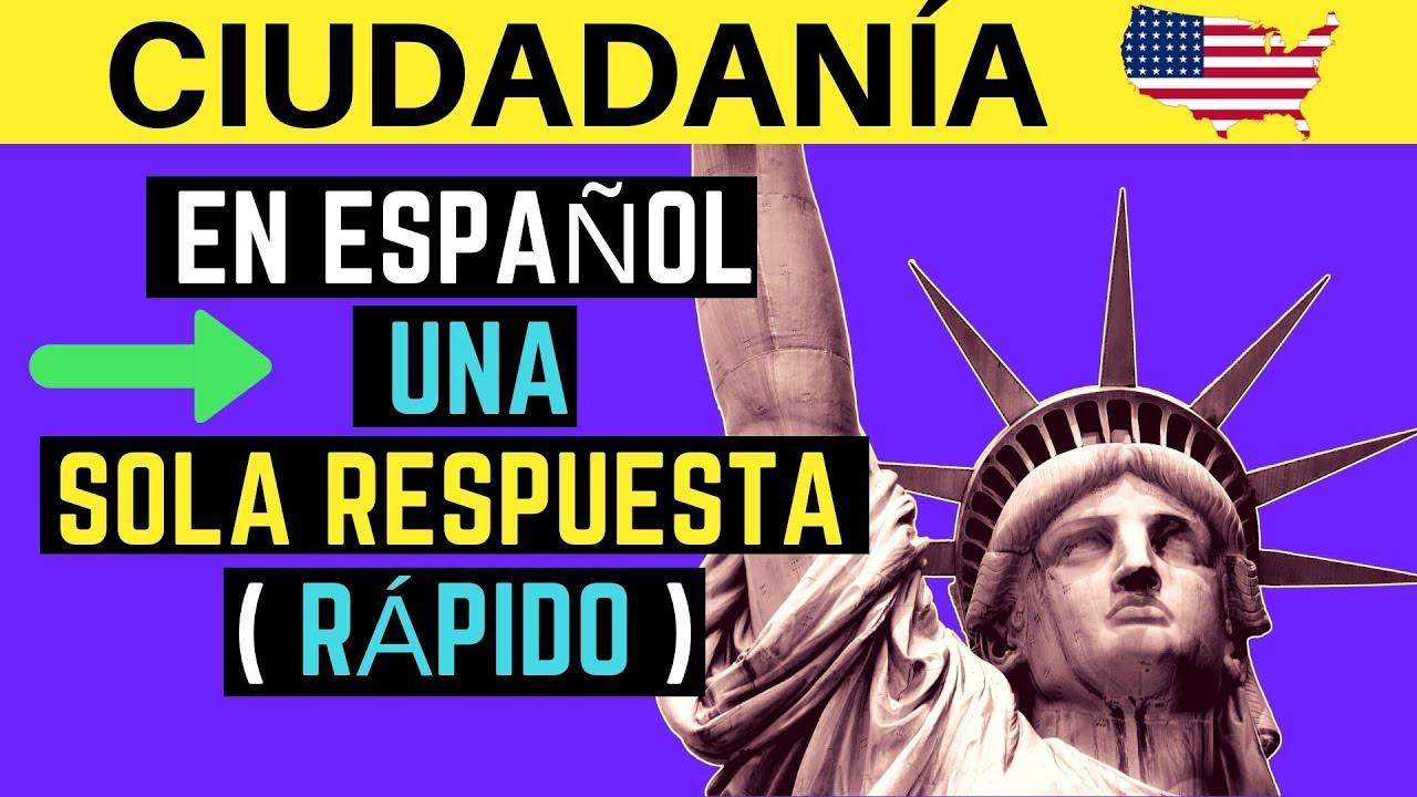 Examen De Ciudadanía Americana En Español 2021 Preguntas En Orden Aleatorio Una Sola Respuesta Youtube