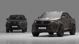Toyota Hilux Testfahrt und das Widebody Kit | Prior-Design
