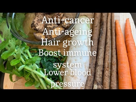 Mom's Healthy Chinese 5 Treasures Vegetable Soup 五宝汤 Recipe Boost Immune Anti Ageing FullHappyBelly