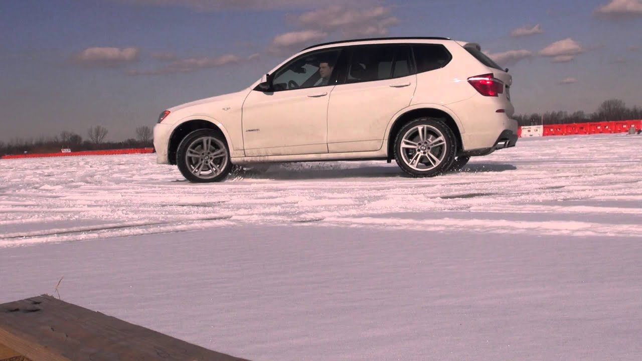 BMW X3 35i MSport in the snow practice run Part 1  YouTube