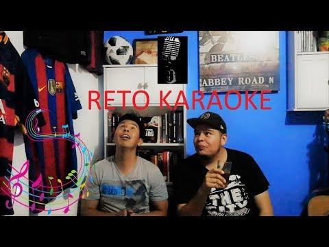 Reto karaoke- Bailando y haciendo caras al cantar