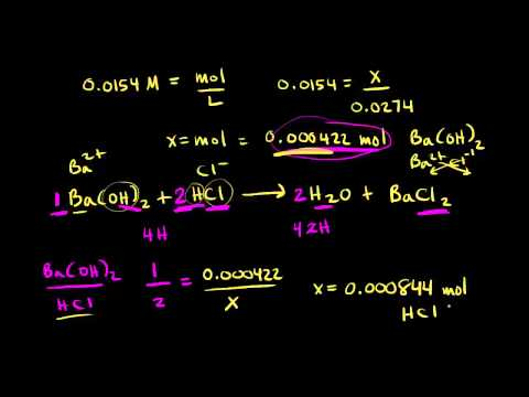 Titration Calculation Example | Chemistry | Khan Academy