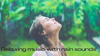 Relaxing music with rain sounds  deep sleeping music  calm piano music #relaxmusic