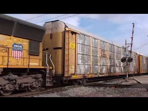 Union Pacific and Canadian National at West Chicago, IL - Trackside Travels HD 1080p