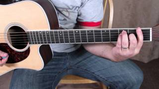 Super Beginner Acoustic Guitar Songs - Lesson - REM - Losing My Religion tutorial