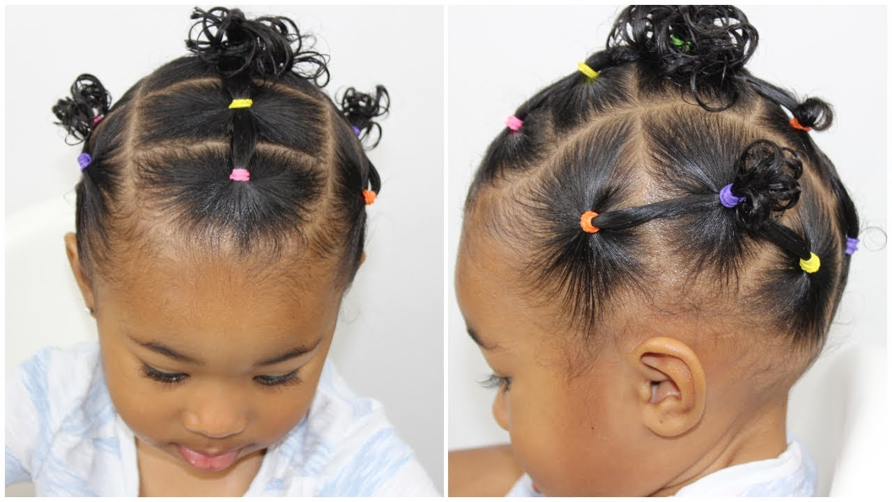 Toddler Hairstyle 👧🏽 | Elastic Hairstyle - YouTube