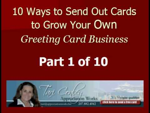 Home based greeting card business video 1 of 10 ways to use home based greeting card business video 1 of 10 ways to use greeting cards to grow your business m4hsunfo