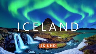 ICELAND NATURE in 4K UHD Drone Film + Relaxing Piano Music for Stress Relief, Sleep, Spa, Yoga, Cafe