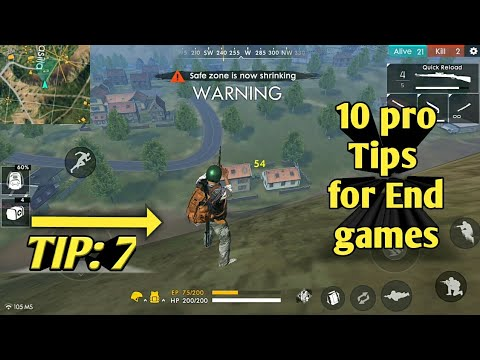 10 pro tips to survive end game | free fire battleground