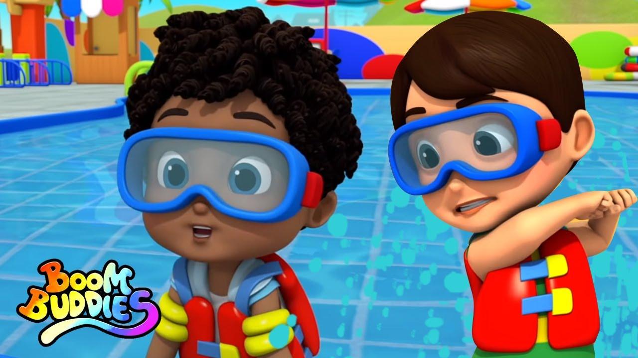 Canción de natación | Canciones infantiles | Boom Buddies Español | Videos para bebes
