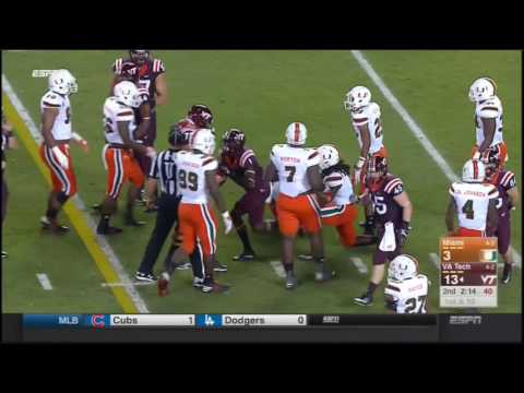 Miami Hurricanes at Virginia Tech Hokies in 30 Minutes - 10/20/16