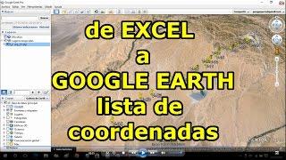 de EXCEL a GOOGLE EARTH - Subir Lista de  Coordenadas