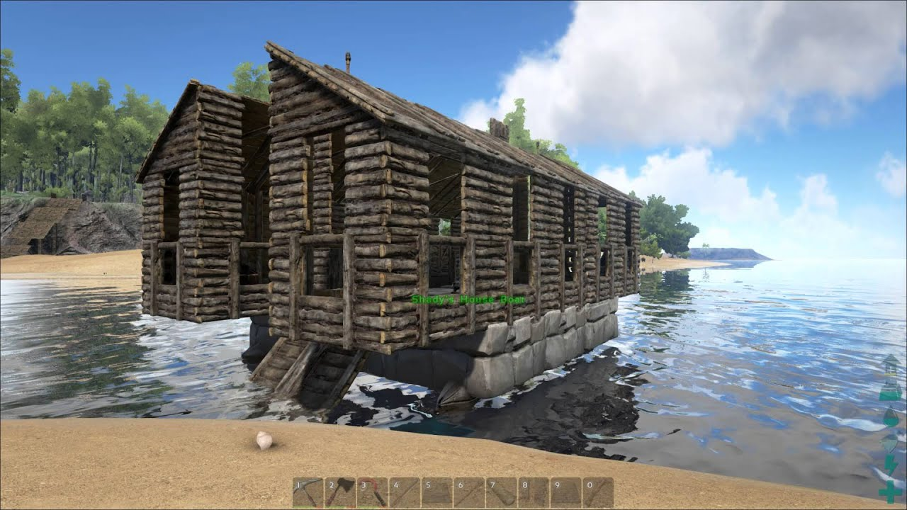 Ark Survival Evolved - Showing off the new House Boat!